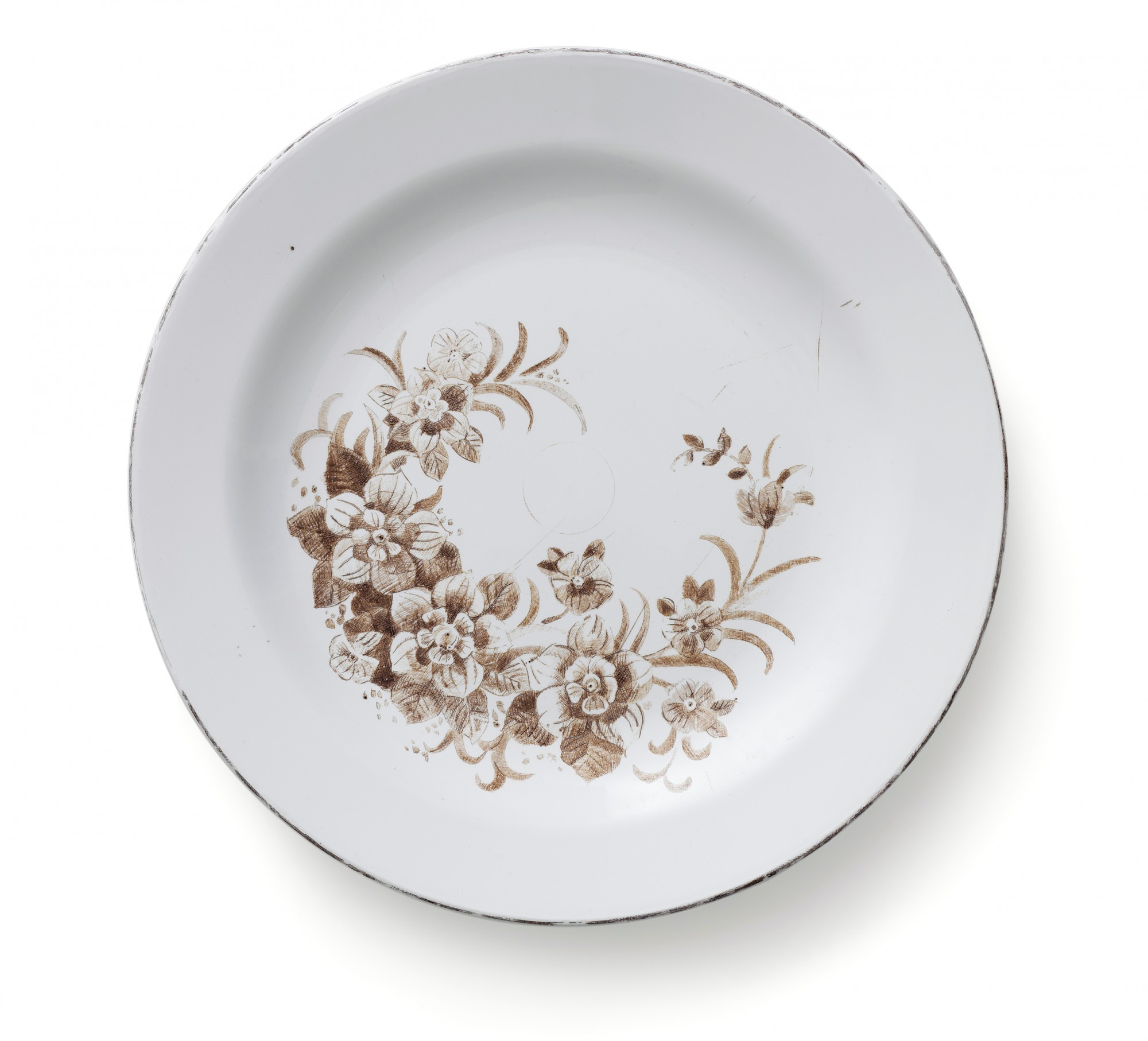 From the series Damaged Goods, 2012. Reworked plastic plate. Ø 23,5 cm