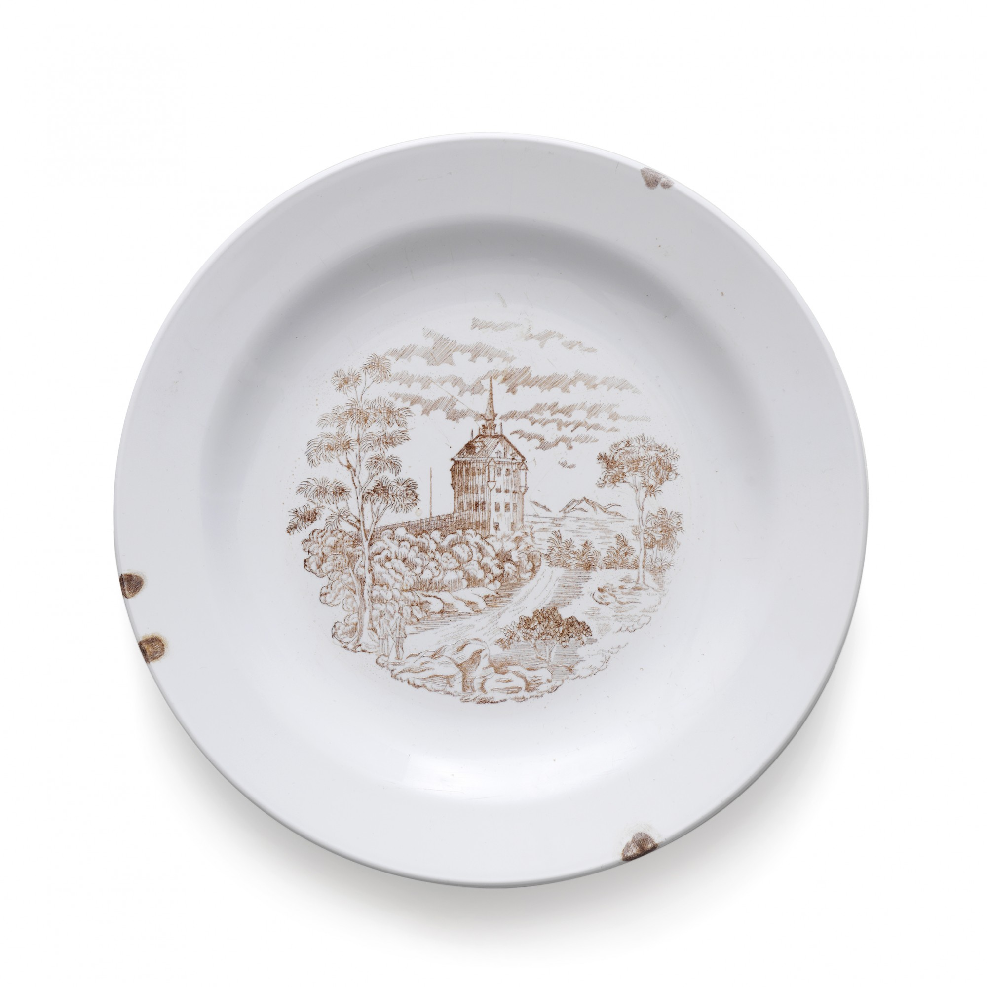 From the series Damaged Goods, 2009. Reworked plastic plate. Ø 23 cm