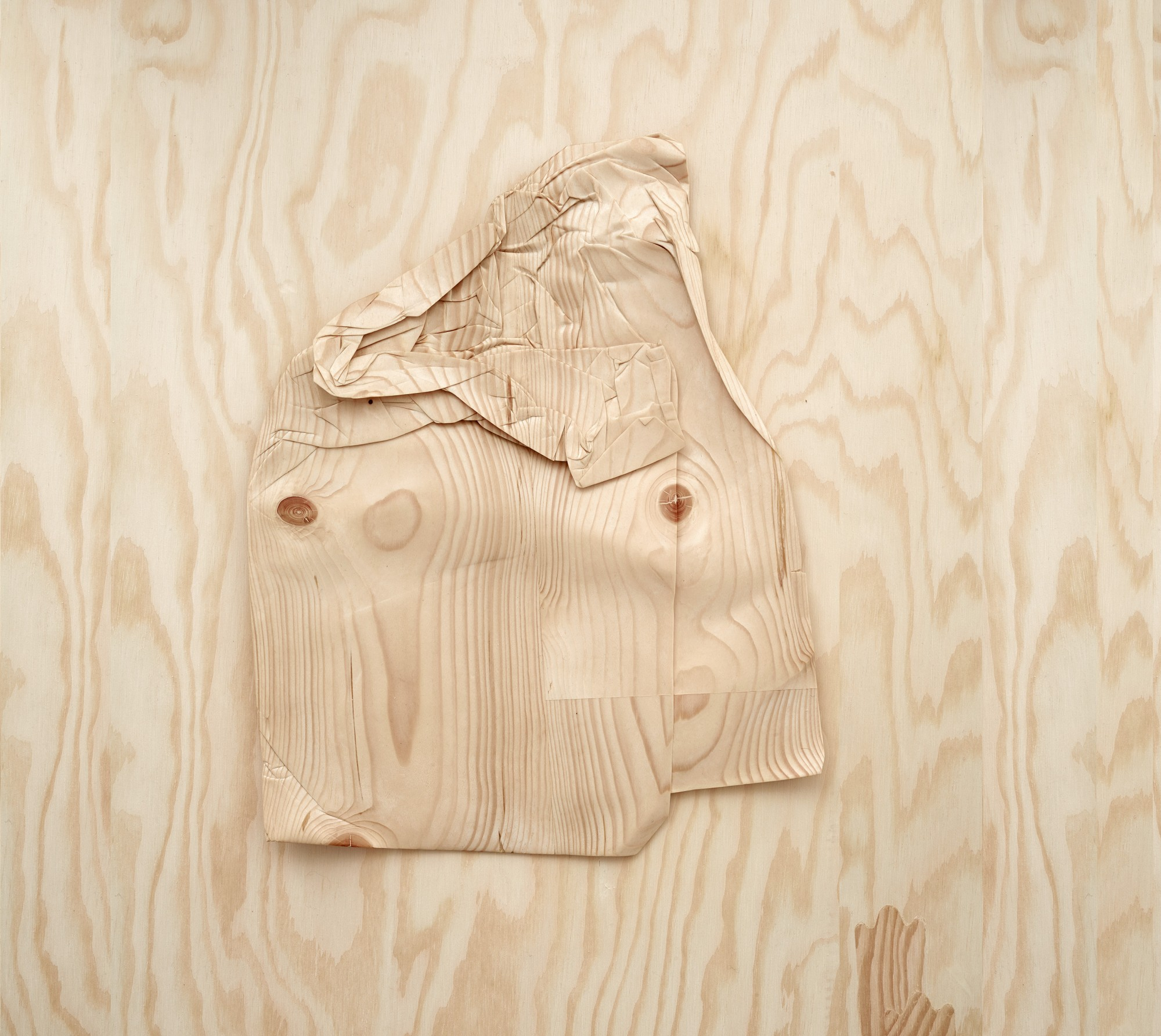 From the series One-to-One, 2014. Wood. Dimensions 37 x 29 x 3 cm